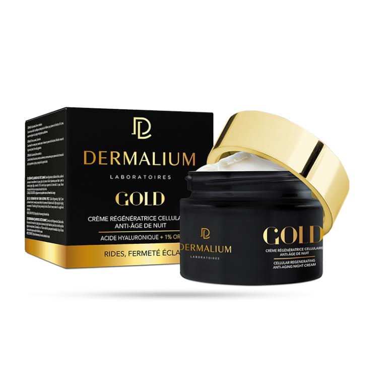 DERMALIUM GOLD CRÈME RÉGÉNÉRATRICE CELLULAIRE ANTI-ÂGE DE NUIT 50ml