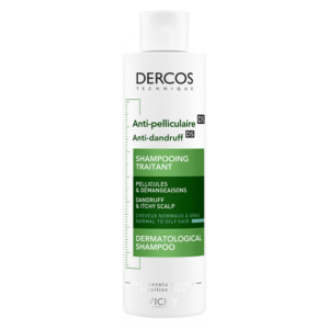 VICHY DERCOS SHAMPOOING ANTI-PELLICULAIRE CHEVEUX NORMAUX A GRAS 200ML